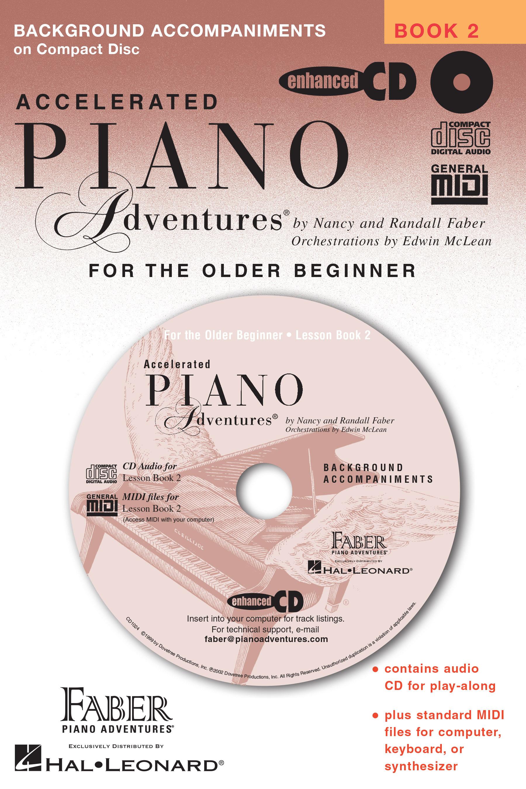 Piano Adventures Accelerated Lesson Book 2 MIDI